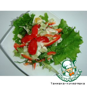 Рецепт: Овощной салат Летняя полезность