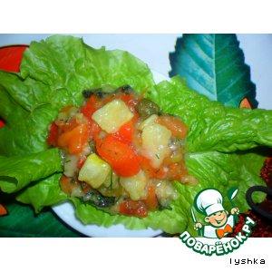 Рецепт: Закуска из кабачков и болгарского перца