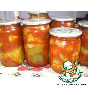 Рецепт: Перец в томатной пасте на зиму