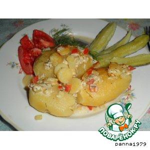 Рецепт: Картофель, фаршированый овощами