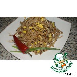 Рецепт: Салат корейский из пророщенной пшеницы