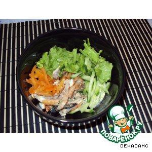 Рецепт: Салат с копченым угрем