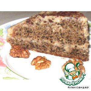 Рецепт: Торт Орехово-кофейный