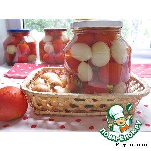 Рецепт: Маринованные помидоры с луком