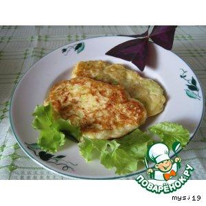 Рецепт: Кабачковые оладьи с сыром