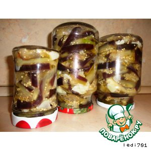 Рецепт: Баклажаны Грибочки в масле