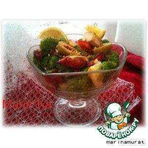 Рецепт: Салат из молодой брокколи