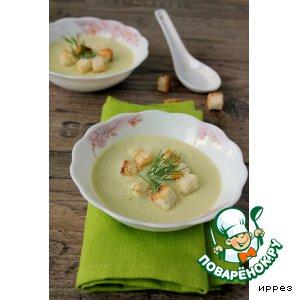 Рецепт: Суп-пюре из кабачков с творогом