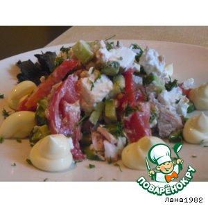 Рецепт: Салат с фетой и помидорами