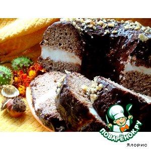 """Рецепт: Шоколадный кекс с рикоттой """"Осеннее кольцо"""""""