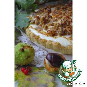 """Рецепт: Пирог с творожной начинкой и засахаренными каштанами """"Каштаны. Осень. Карамель"""""""