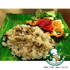 Рецепт: Грибы с рисом