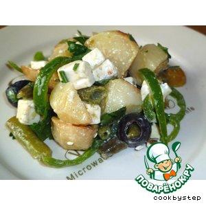Рецепт: Картофельный салат в греческом стиле