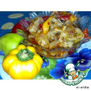 Рецепт: Свинина в овощном соусе