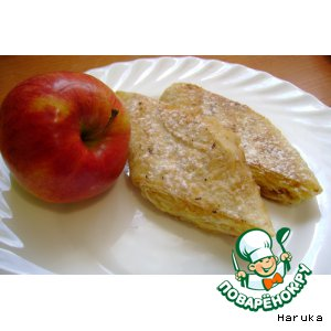 Рецепт: Сладкий рулет из лаваша с яблоками