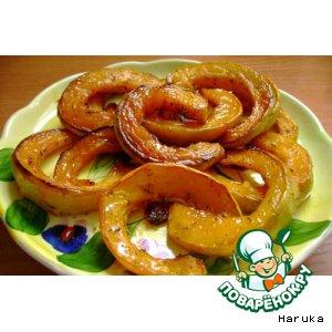 Рецепт: Тыква с медом, паприкой и прованскими травами
