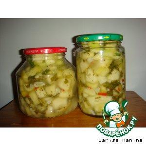 Рецепт: Салат из кабачков с чесноком