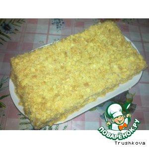 Рецепт: Песочный торт с заварным кремом