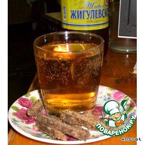 Рецепт: Путассу к пиву А-ля бастурма