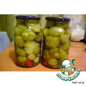 Рецепт: Острые зеленые помидоры