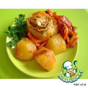 Рецепт: Ленивые пельмени с овощами в мультиварке