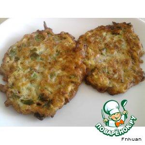Рецепт: Оладьи из кабачков по-турецки