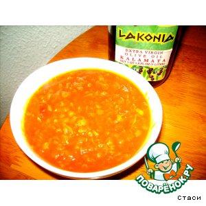 Рецепт: Томатный чечевичный суп с имбирем