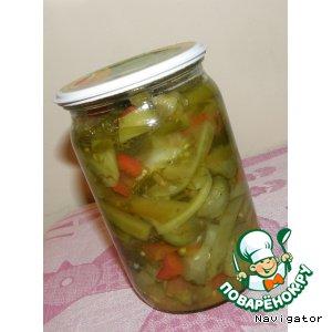 Рецепт: Донской салат классический-заготовка на зиму