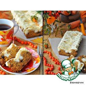 """Рецепт: Морковный кекс со сливочным творожным сыром """"Рыжее настроение"""""""