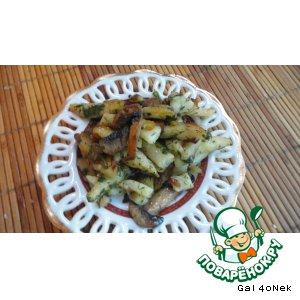 Рецепт: Жареный картофель с грибами