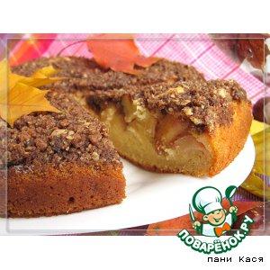 Рецепт: Пирог с айвой, грушей и штрейзелем
