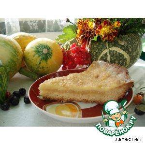 Рецепт: Пирог с начинкой из коричневого сахара