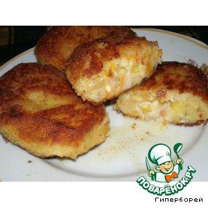 """Рецепт: Гороховые пирожки """"Кузькина мать"""", или """"Привет от товарища Хрущева"""""""