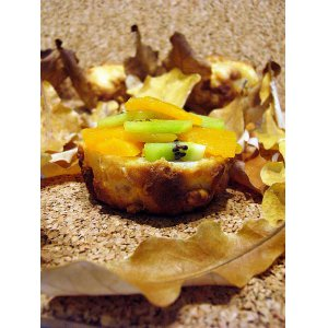 Рецепт: Кексы в листьях c осенним вкусом