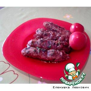 Рецепт: Мясные батончики в томатном соусе