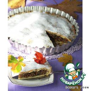 """Рецепт: Закрытый пирог с  начинкой из орехового ассорти """"Спонгата"""""""