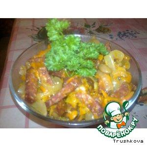 Рецепт: Обжорка с колбасой