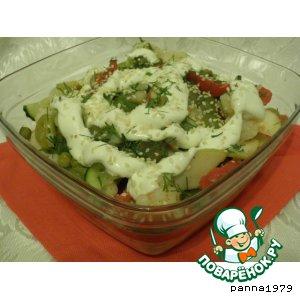 Рецепт: Салат из цветной капусты с виноградом