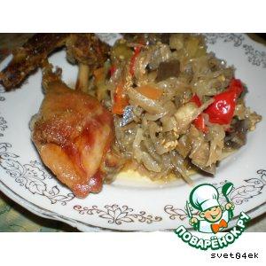 Рецепт: Утка с овощами, запеченная в рукаве