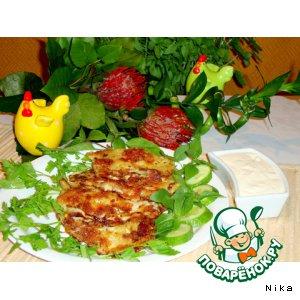 Рецепт: Блины капустные с сыром по-быстрому