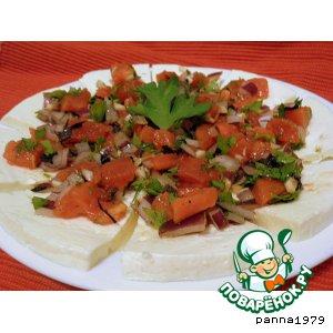 Рецепт: Моцарелла с соусом из помидоров
