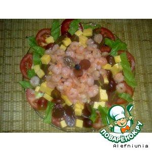 Рецепт: Салат из винограда и сыра