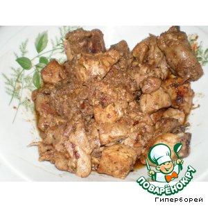 Рецепт: Курица с орехами по-грузински Гурули