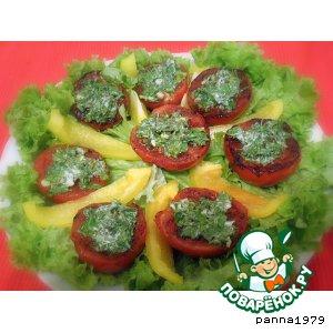 Рецепт: Легкая закуска из помидоров