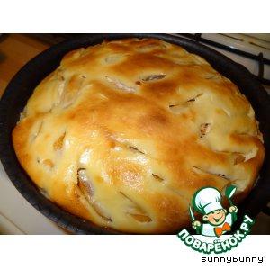 """Рецепт: Пирог с хурмой """"Осеннее солнце"""""""