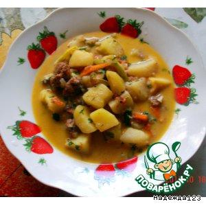 Рецепт: Картофель с тушенкой Дачный