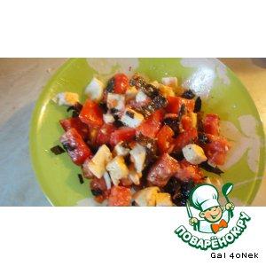 Рецепт: Салат с вялеными баклажанами