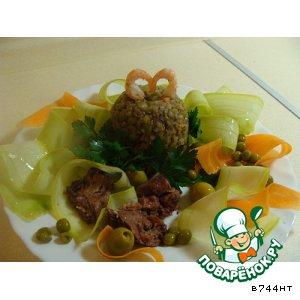 Рецепт: Сказочно вкусная горохово-гречневая каша
