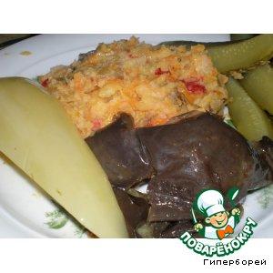 Рецепт: Гороховое пюре с копченой грудинкой и овощами
