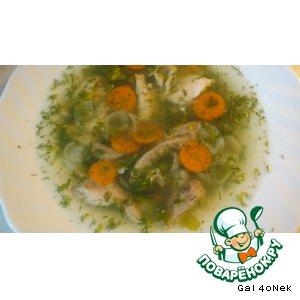 Рецепт: Куриный супчик с рисовыми макаронами